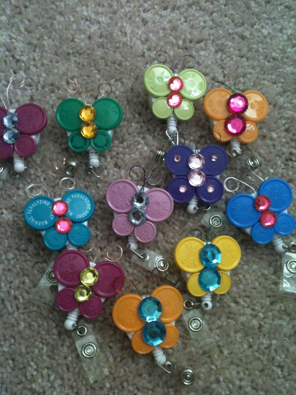Flip cap butterfly badge holder nurses week ideas pinterest flip cap butterfly badge holder solutioingenieria Images