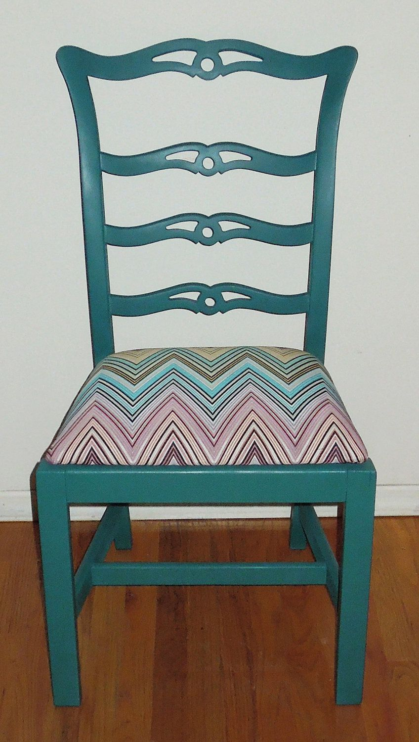 Bankers chair leather - Refurbished Vintage Teal Painted Wooden Chair 180 00 Via Etsy