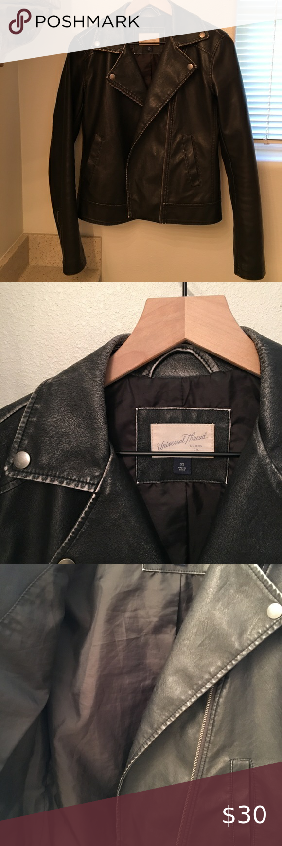 Universal Thread Faux Leather Jacket Leather Jacket Faux Leather Moto Jacket Faux Leather Jackets [ 1740 x 580 Pixel ]