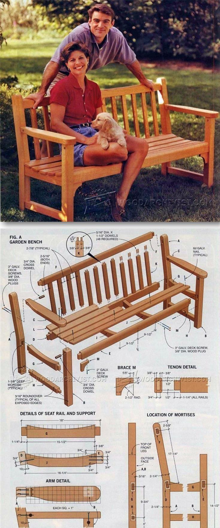 Garden Bench Plans Outdoor Furniture Plans And Projects Woodarchivist Com Planos De Carpinteria Planos De Muebles Proyectos De Carpinteria