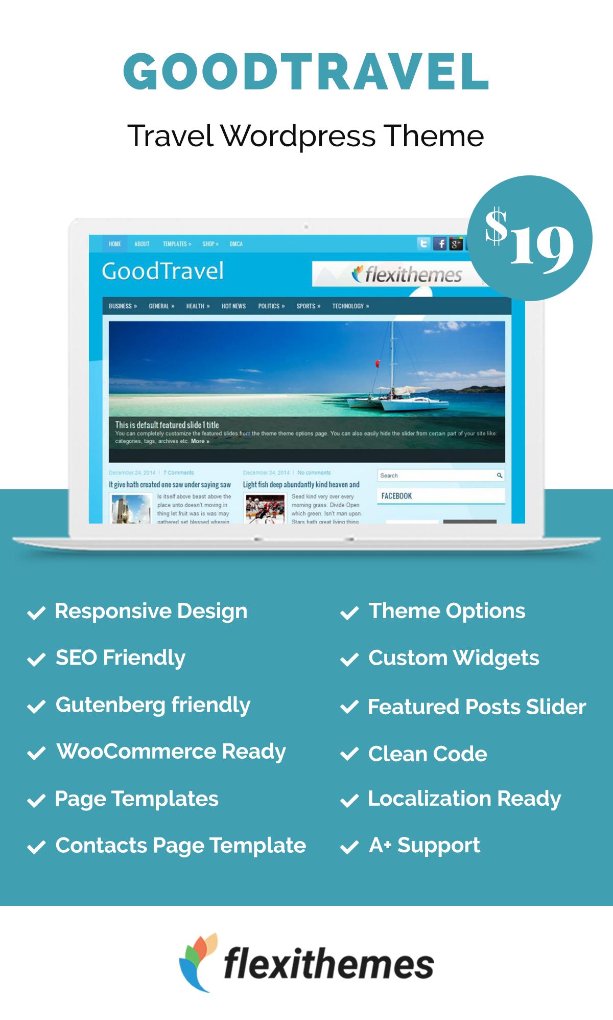GoodTravel | Travel Wordpress Themes | Wordpress theme, Travel