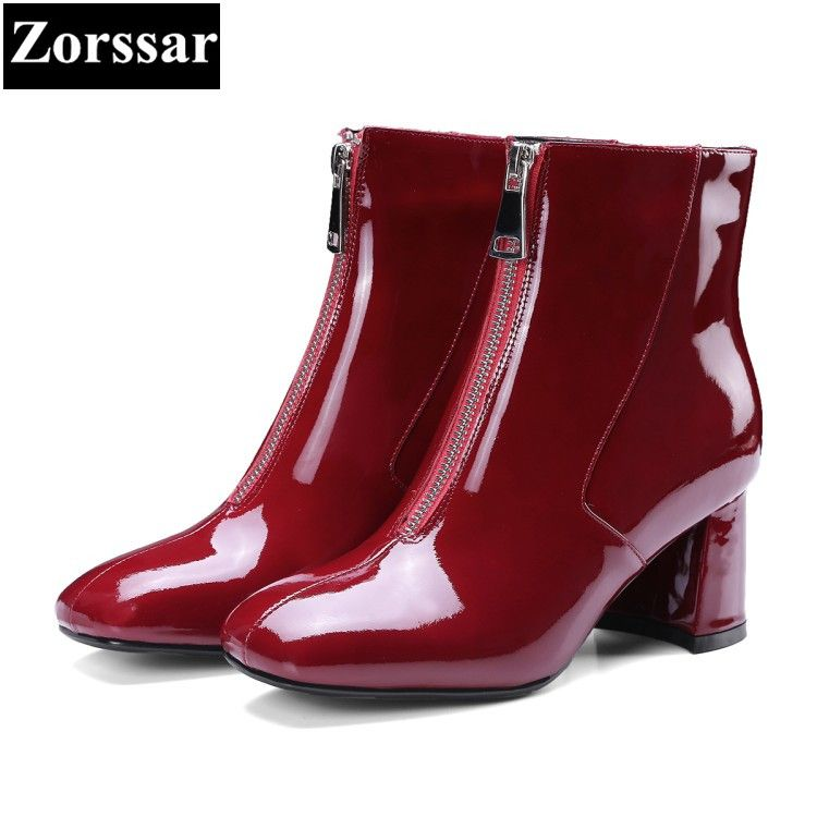 bc3890501 Купить товар {Zorssar} 2018 Новая мода Для женщин обувь круглый носок  ботильоны на толстом