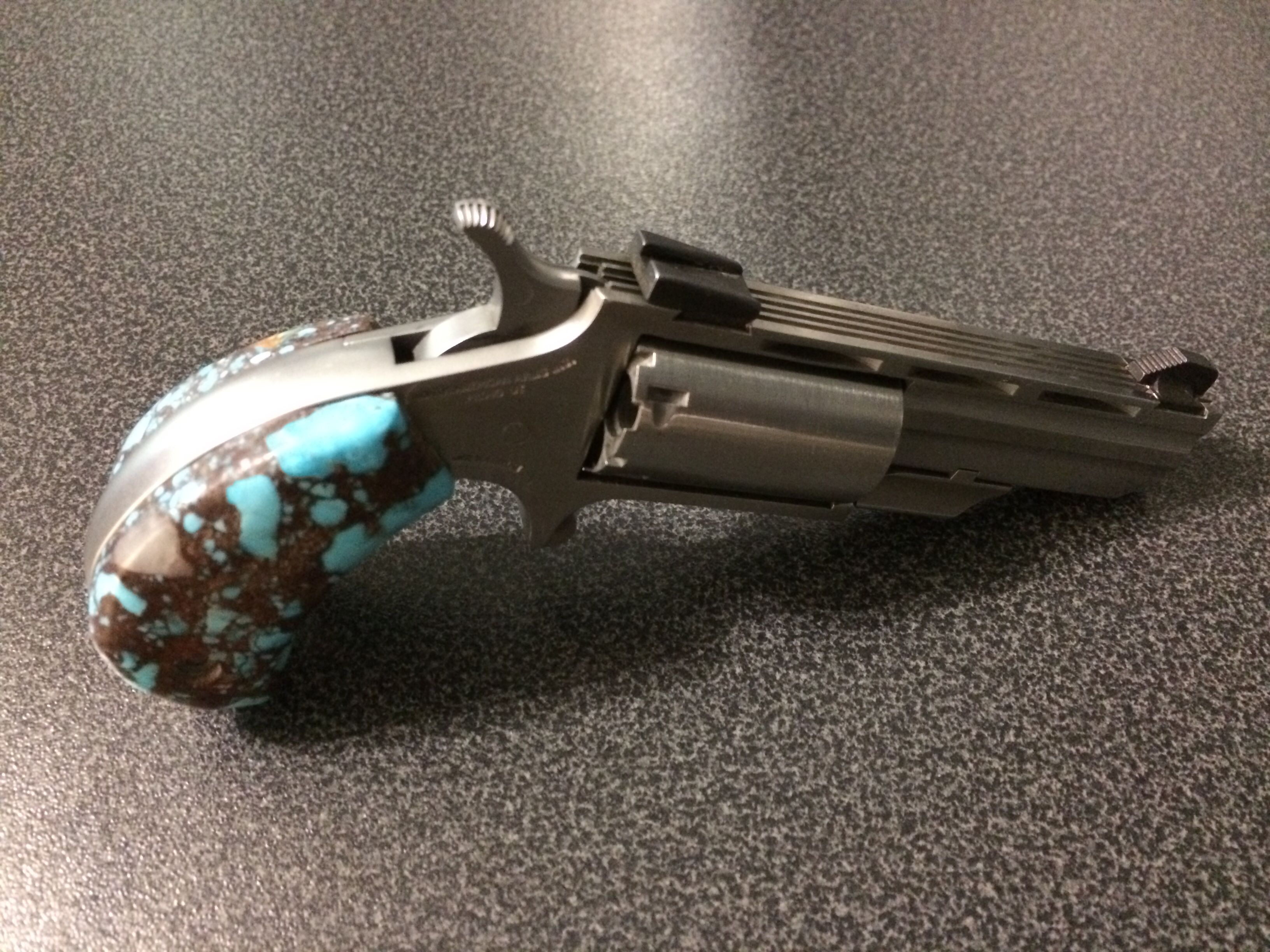 North American Arms with custom turquoise grips   My Style