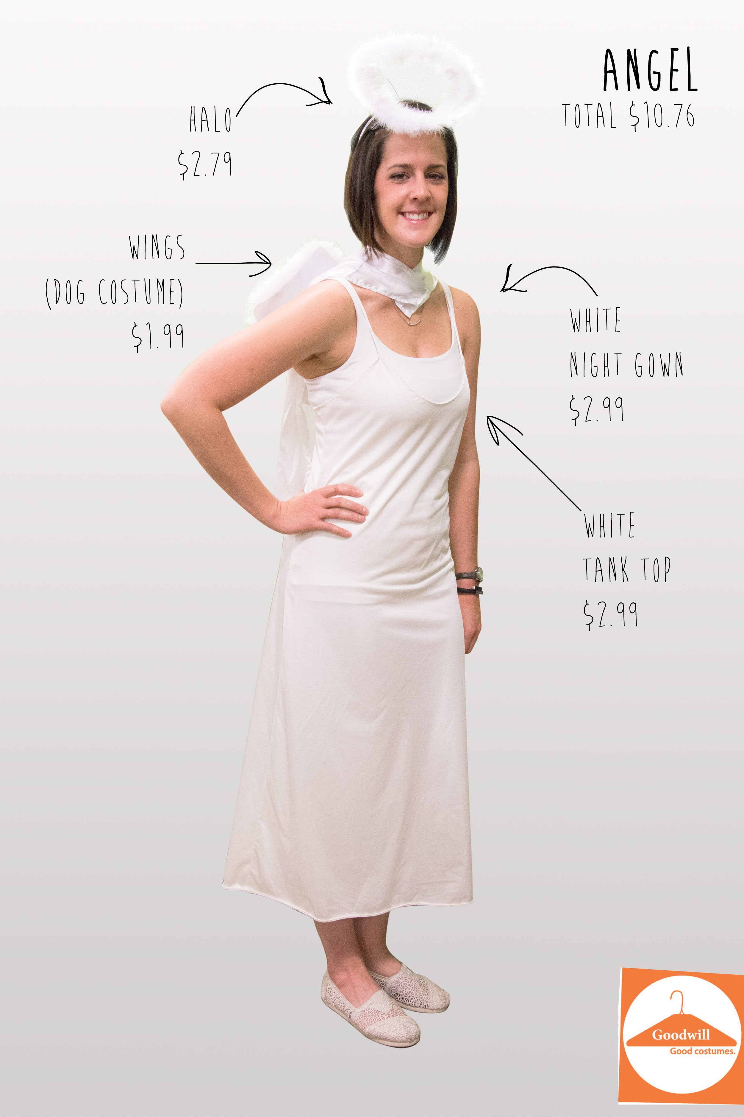 Diy Angel Costume Easy To Make This One Your Own From Goodwill