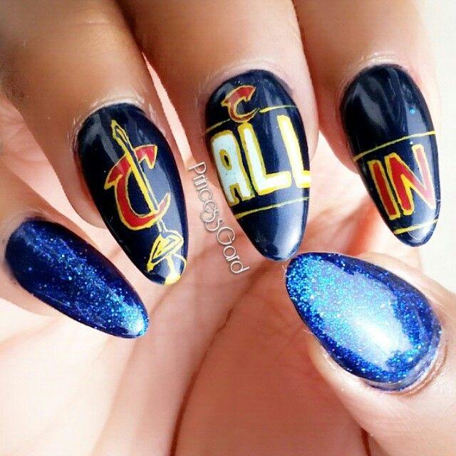 Cleveland Cavs #clevelandcavaliernails   Nail art   Pinterest ...