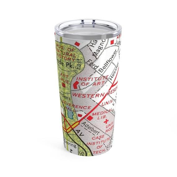Case Western Reserve University Map Tumbler Case Western Coffee Mug on