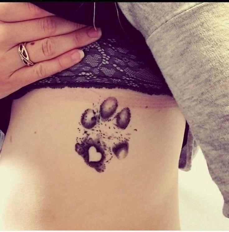 Photo of Beautiful paw-print with heart tattoo – Tattoos