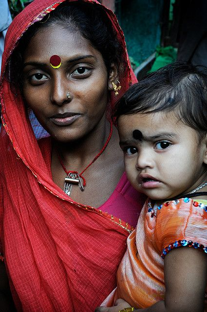 Indian Mother Colourful Beauty Maternal Love