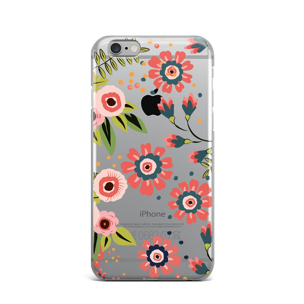 Floral Flower Rubber Silicone Cover Case For iPhone 4 4S 5 5S 5c SE 6 6S 7 Plus #Apple