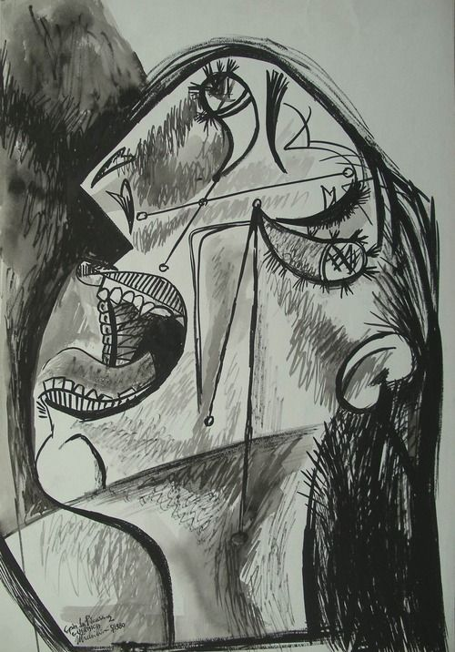 Image result for picasso sorrow paintings black and white