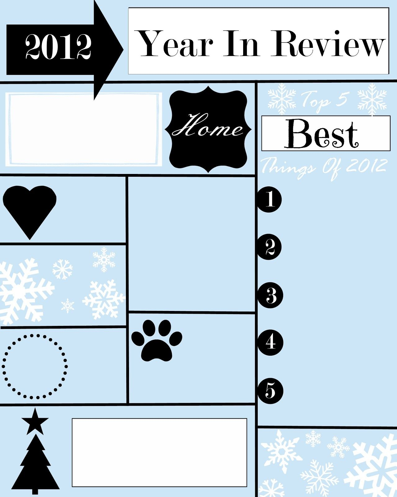 A YEAR IN REVIEW CHRISTMAS LETTER AND TEMPLATE Christmas