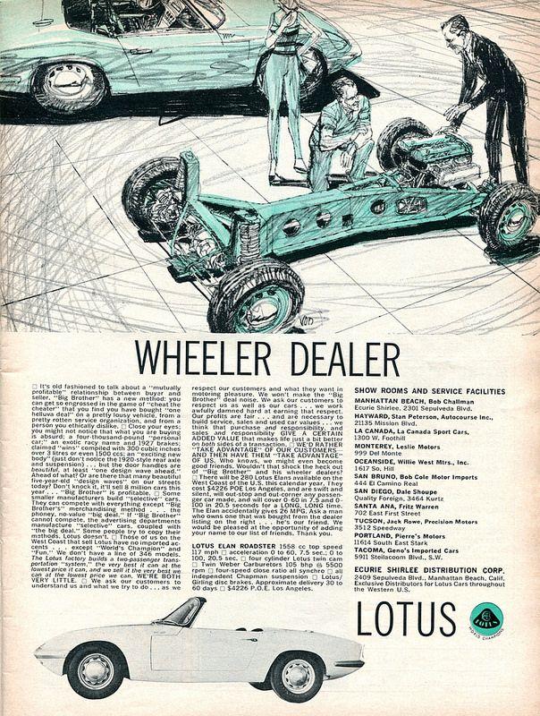 1965 Lotus Elan Roadster Advertisement Road & Track June 1965 | Flickr - Photo Sharing!