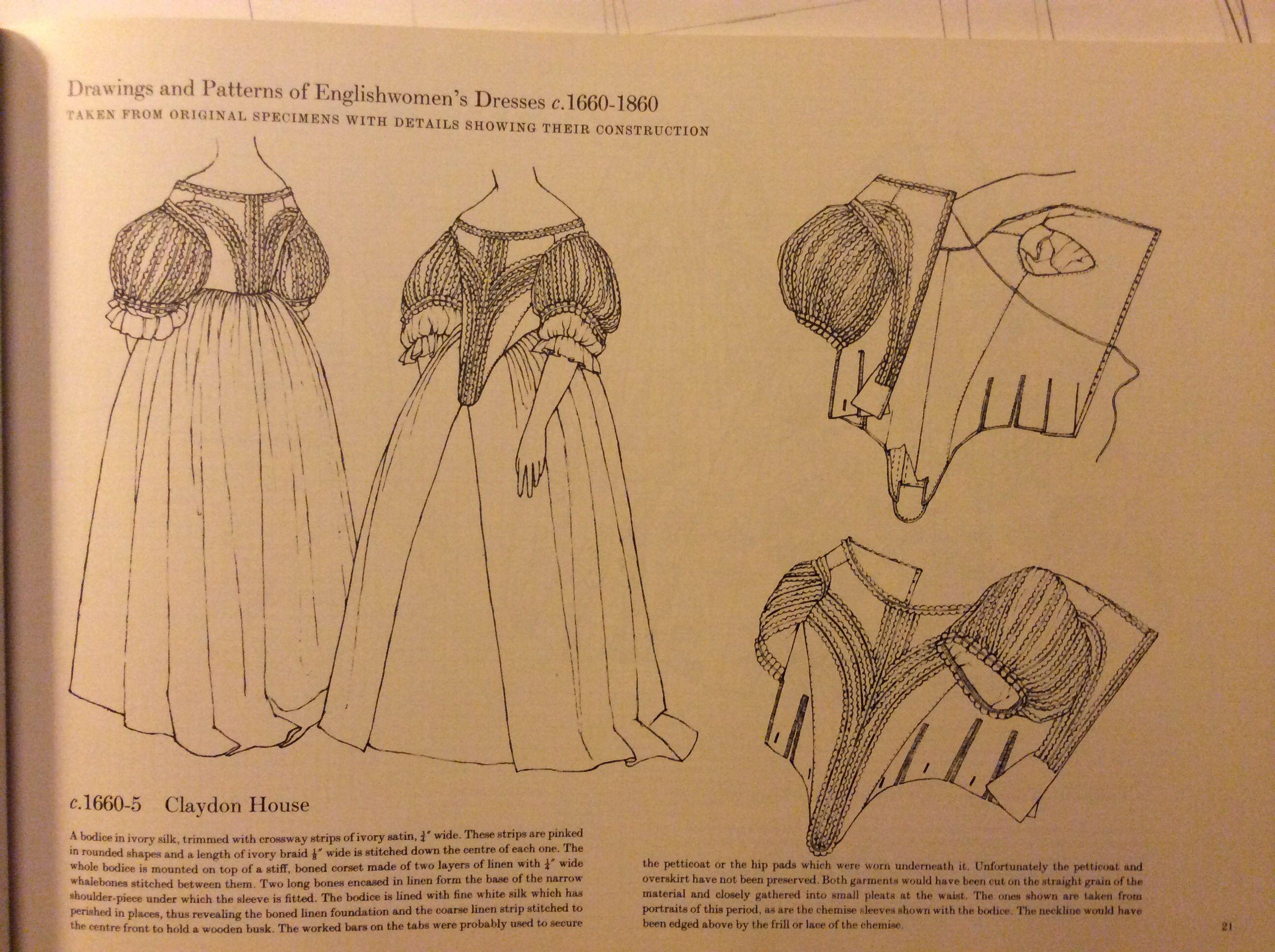 Patterns of Fashion 1 1660/1860 Janet Arnold Ed: Drama book