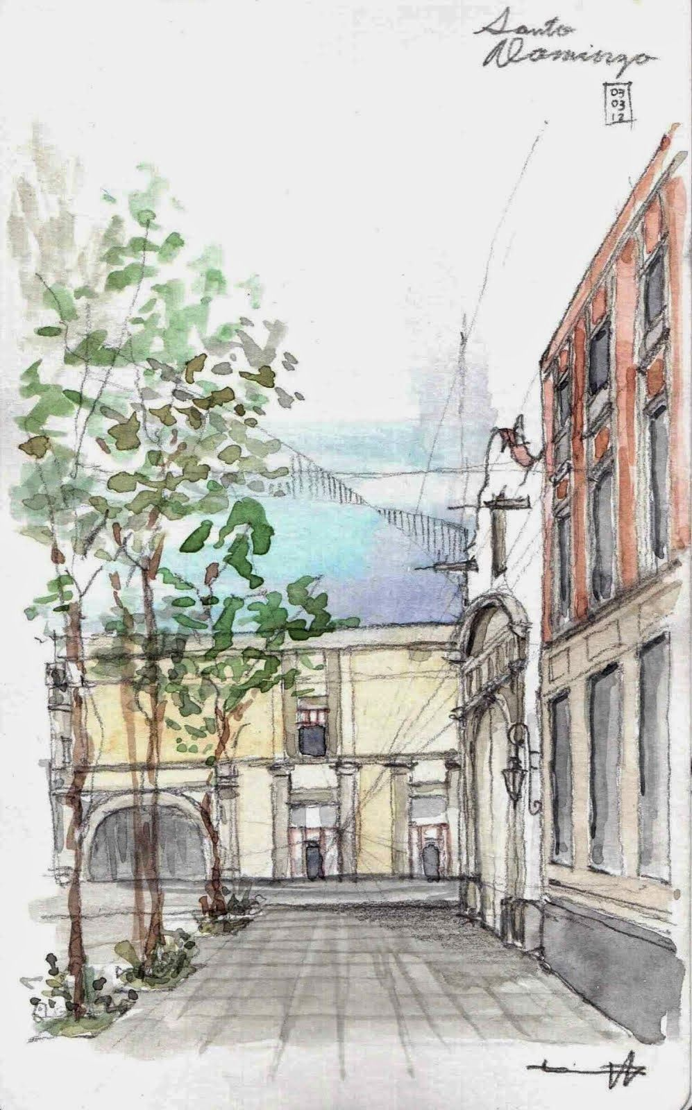 Revista Digital Apuntes De Arquitectura Bocetos A Mano Alzada Plazas Y Calles Croquis Arquitectura Bocetos Arquitectonicos Dibujo Arquitectonico