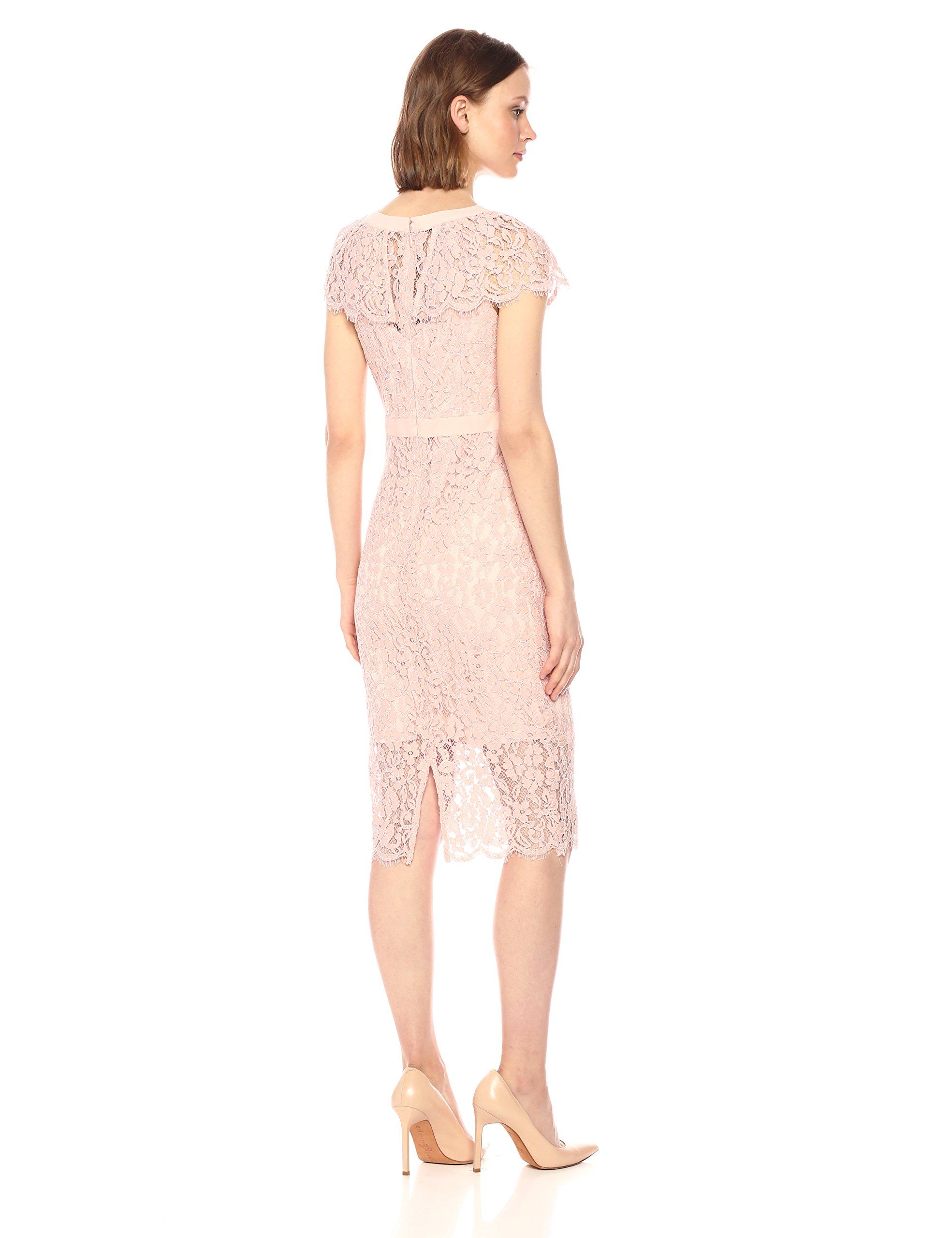 bebe Womens Cap Sleeve All Over Lace Midi Dress Blush 8     You can get  additional details at the image link-affiliate link.  WomenDresses 4efdbcef1e