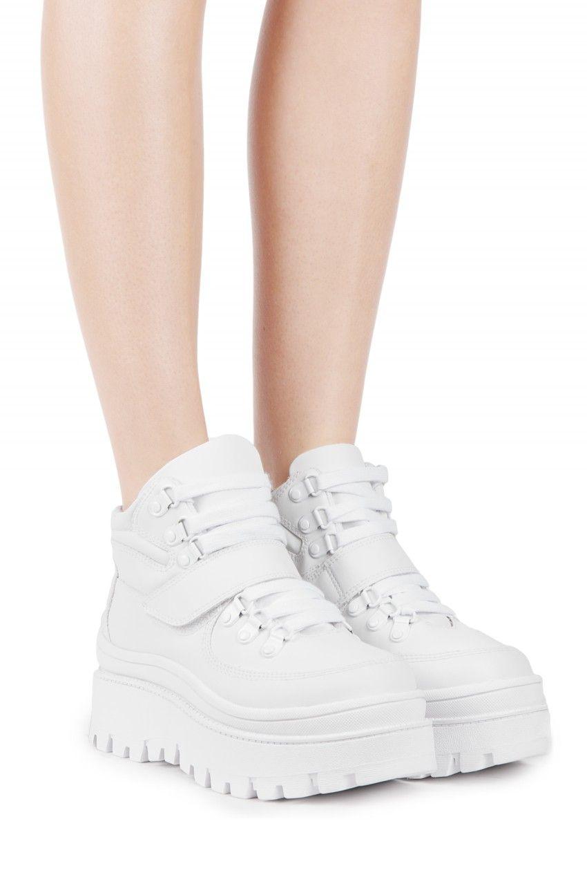 0ccf5b18d578 Jeffrey Campbell Shoes TOP-PEAK Platforms in White