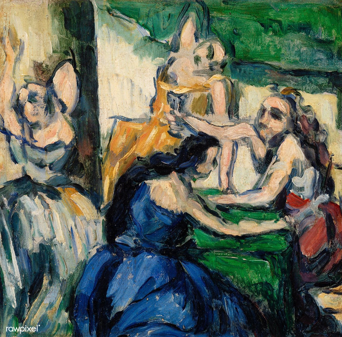 The Courtesans Les Courtisanes Ca 1867 Ndash 1868 By Paul C Eacute Zanne Original From Original From Barn Paul Cezanne Cezanne Art Paul Cezanne Paintings