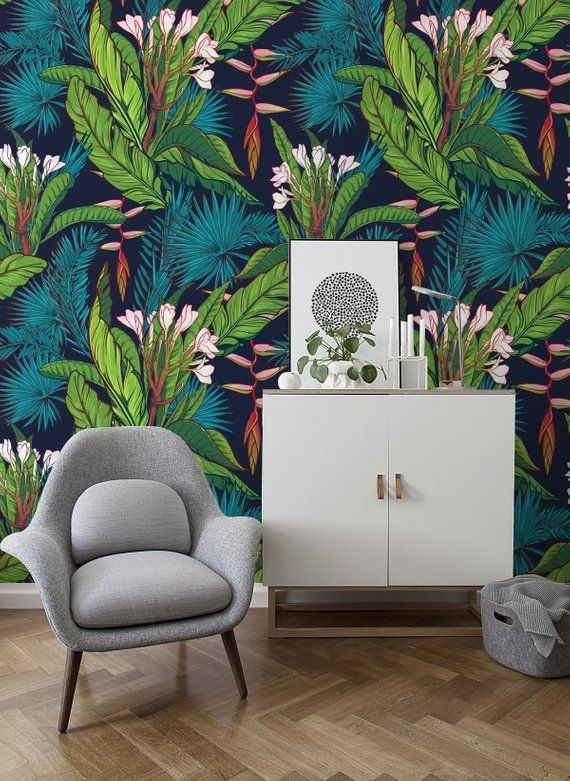 Pin Na Beautiful Tropical Vibes On Peel Stick Wall Mural