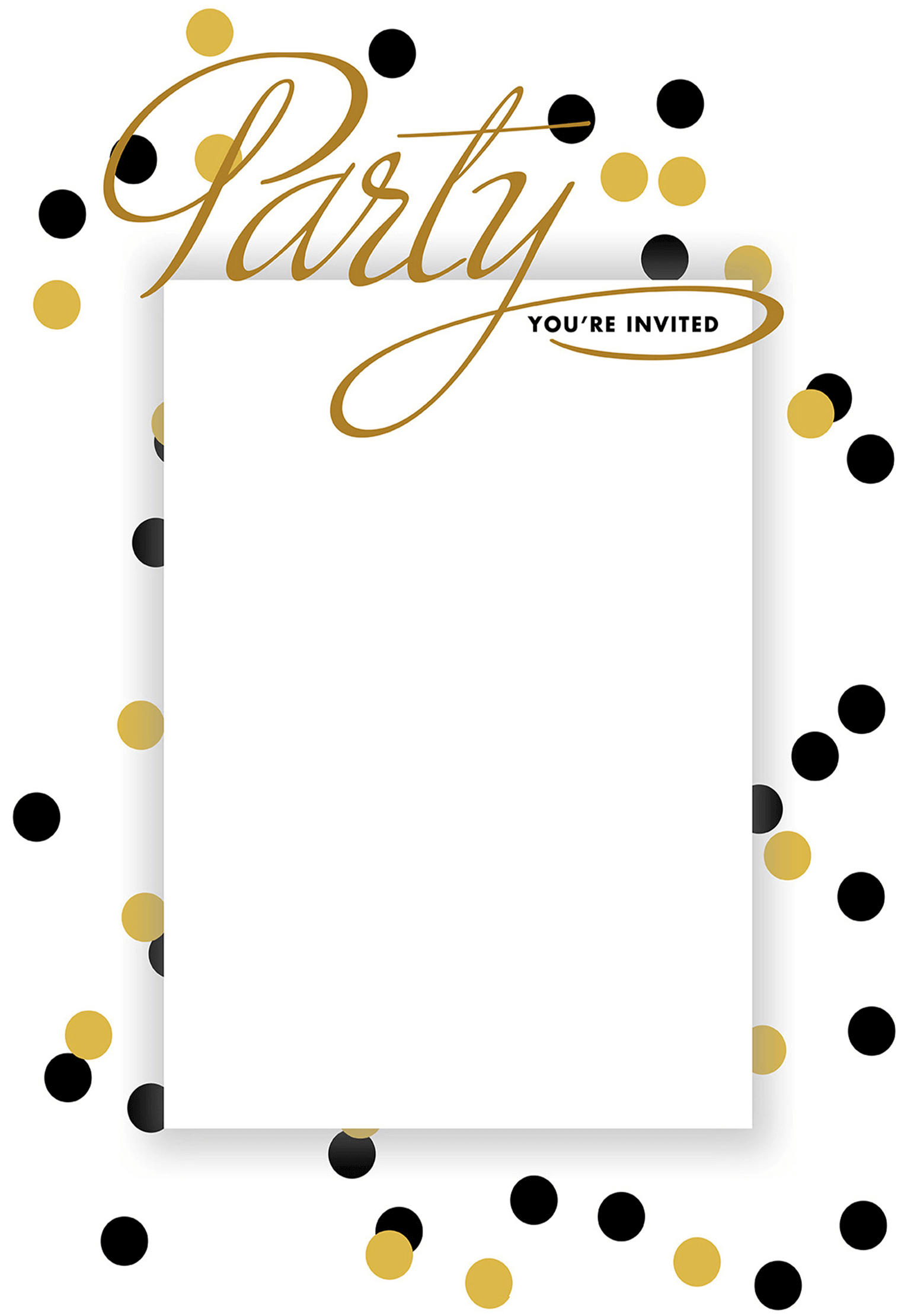 House Party Dots - Free Printable House Party Invitation Template ...