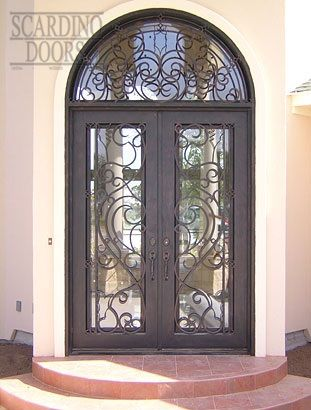 Modern Art Square Wrought Iron Doors With Iron Radius Modern Art