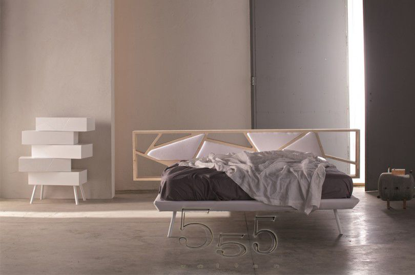 Camere da letto minimal chic. Letto Space testata in legno ...
