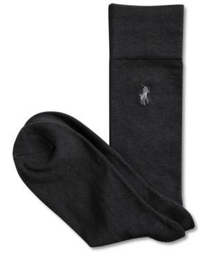 Polo Ralph Lauren 3 Pack Dress Men's Socks - Grey/Black/Navy 10-13