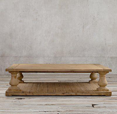 Balustrade Salvaged Wood Coffee Table Pine Coffee Table