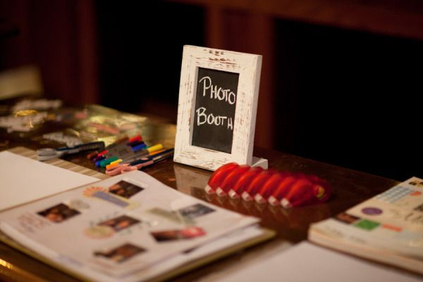 Make sure your wedding photo booth scrapbook gets filled out by providing all the right supplies.