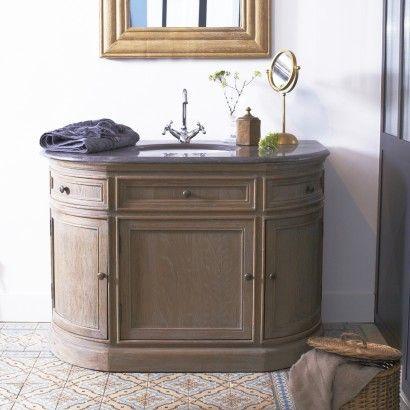 Meuble avec simple vasque en chêne 110 Louise Salle de bain