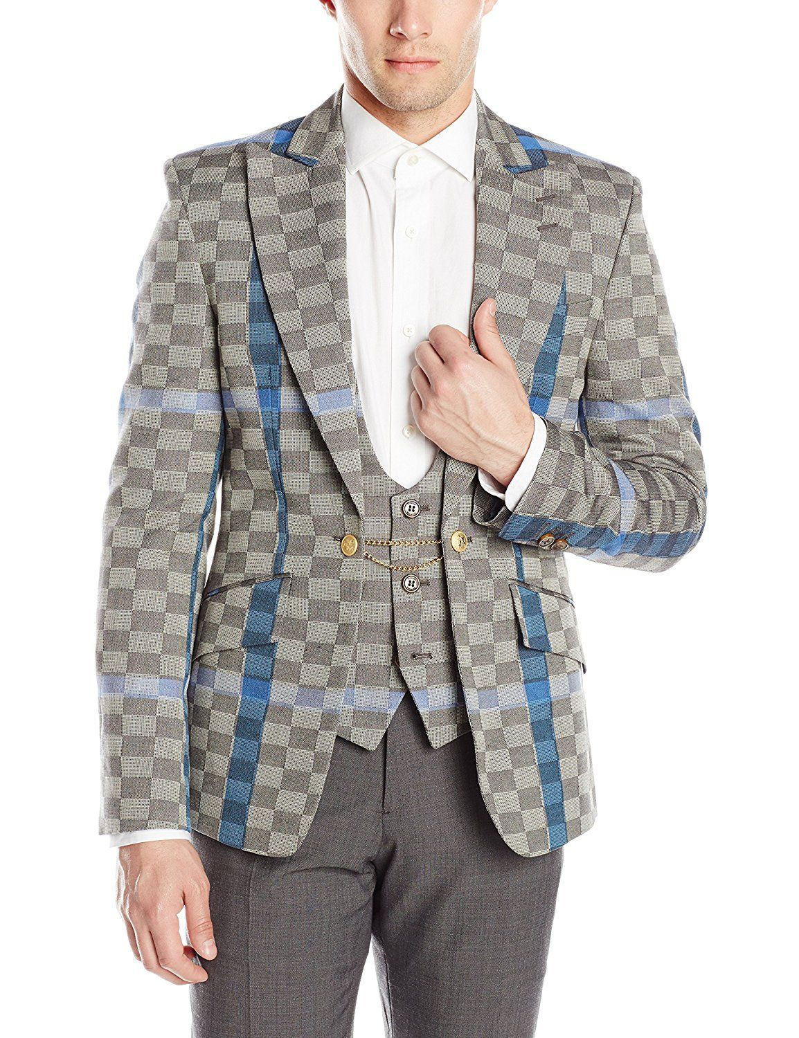 Amazon.com: Vivienne Westwood Men's Basketweave Check Waistcoat Jacket: Clothing