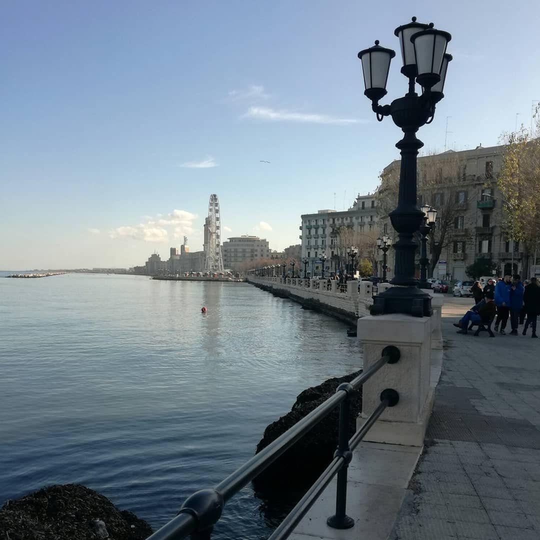 Bari Bari Lungomare Blue Bluesky Sea Beautiful Sunnyday