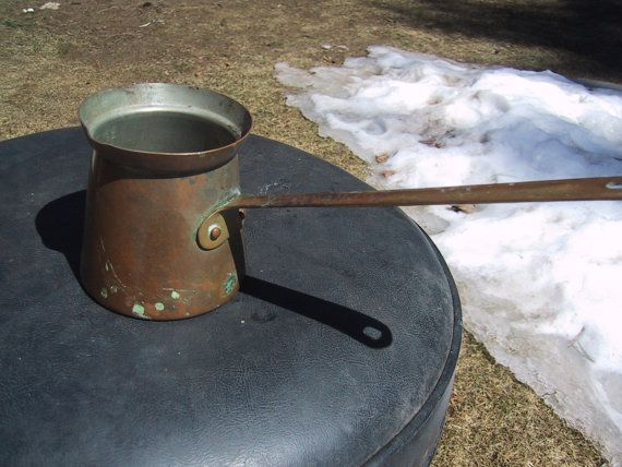 Vintage Tagus Copper and Brass Melting Pot from the 1950's.