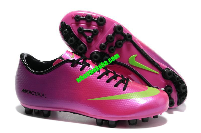 Nike Mercurial 2013 Cristiano Ronaldo Cleats Vapor IX AG Boots - Pink  Purple Green Black