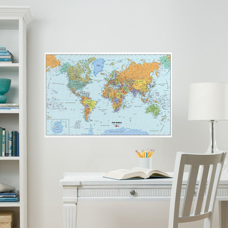 World map dry erase wall decal rosenberryrooms calendar sticker world map dry erase wall decal rosenberryrooms calendar sticker genius gumiabroncs Gallery