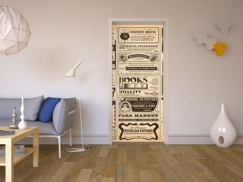 Kühlschrank Bekleben Retro : Verwandle deine tür in eine große retro zeitung mit dem design