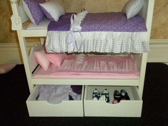 Doll Storage Boxes For Under American Girl Doll By BedsandThreads, $30.00