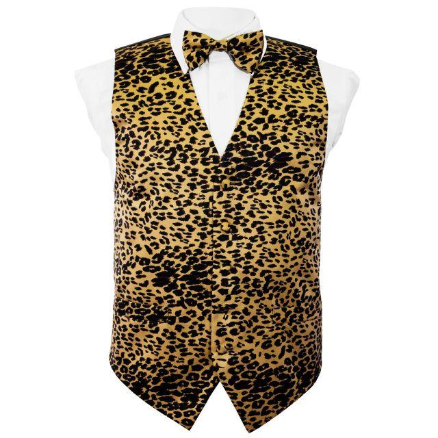 Formal Cool Leopard Skin Men Casual Costume Necktie Suit Bowtie