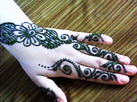 نقش بالحناء سهل و خفيف Henna Arabe Simple Mehndi Designs Henna Designs Mehndi Designs