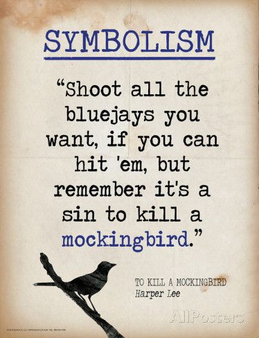 a sin to kill a mockingbird essay Killing a mockingbird is a sin a mockingbird in to kill a mockingbird isn't an actual bird, it represents innocent, nice, only could do good, easy i'd rather you shoot at tin cans in the backyard but i know you'll go after birds shoot all the blue jays you want if you hit 'em but remember it's a sin.