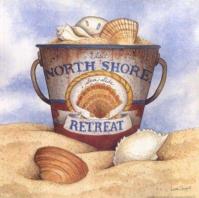 """North Shore Retreat"" Beach Pail"