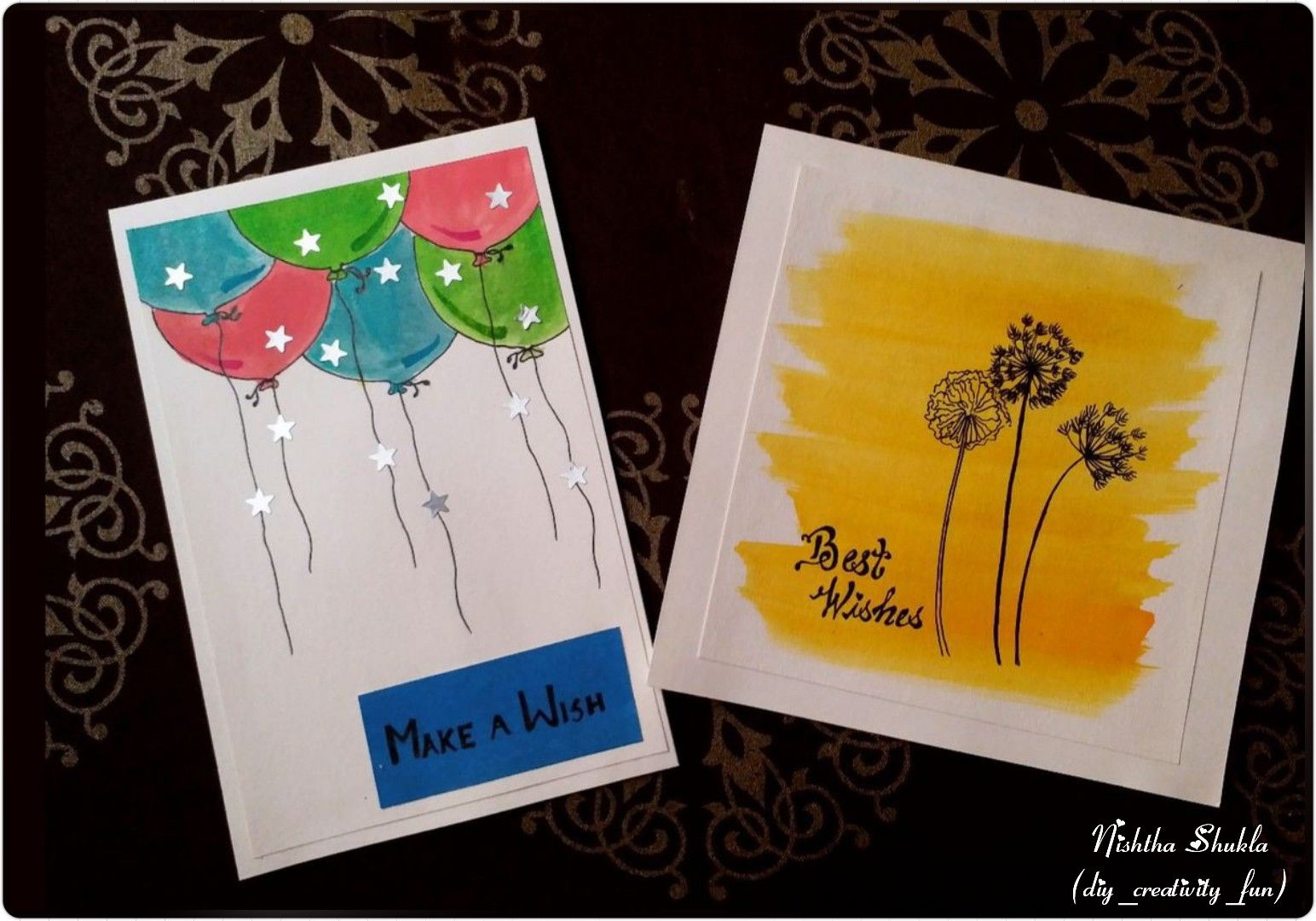 Easy Greeting Card Made Using Water Color If You Are In Ruah And