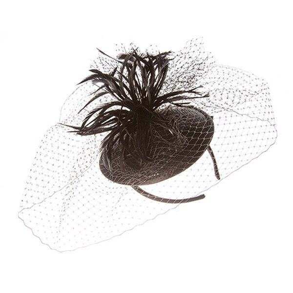 Something Special - Feather Fascinator Hat with Lace Veil #fascinatorstyles