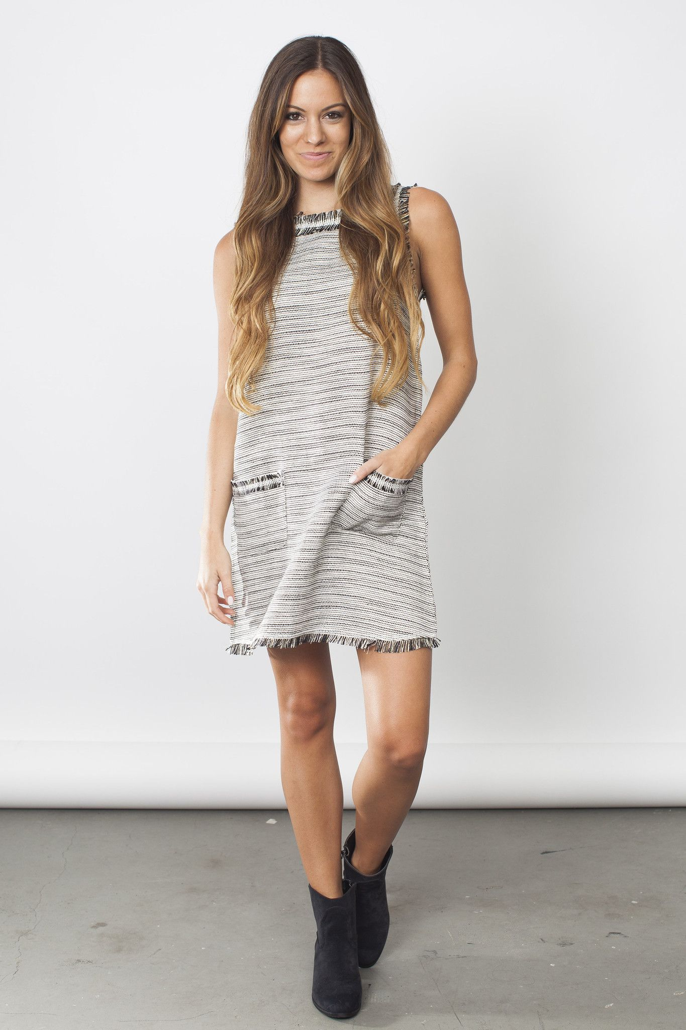 Tweed Swing Dress
