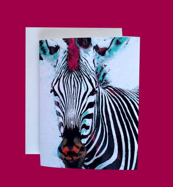zebra greeting card birthday just because i