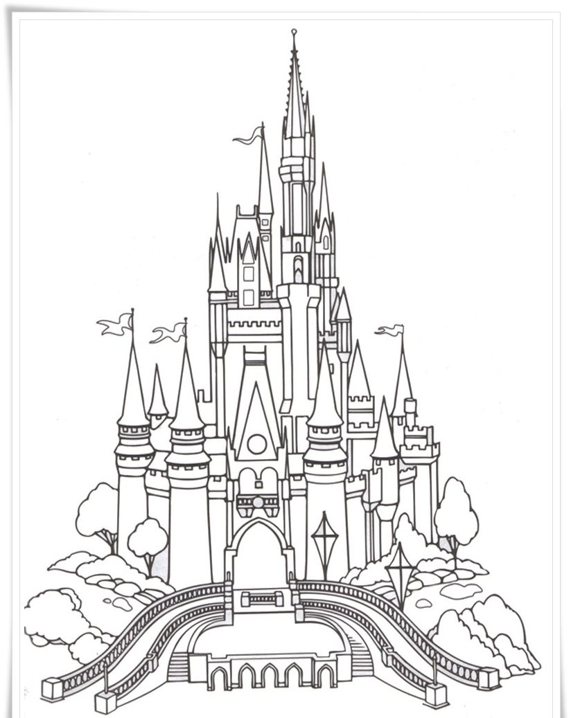 Ausmalbilder Eiskönigin Schloss : Disney Castle Coloring Pictures Coloring Pages Pinterest