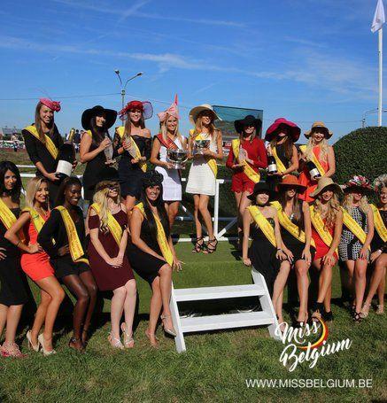 Chaque année notre Miss Belgique offre le prix au gagnant du Steeple à Waregem…