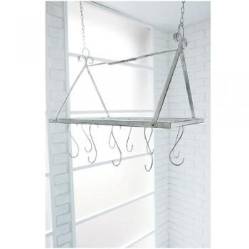 セリアの商品だけでできる天井から吊り下げれるワイヤーラック 吊り