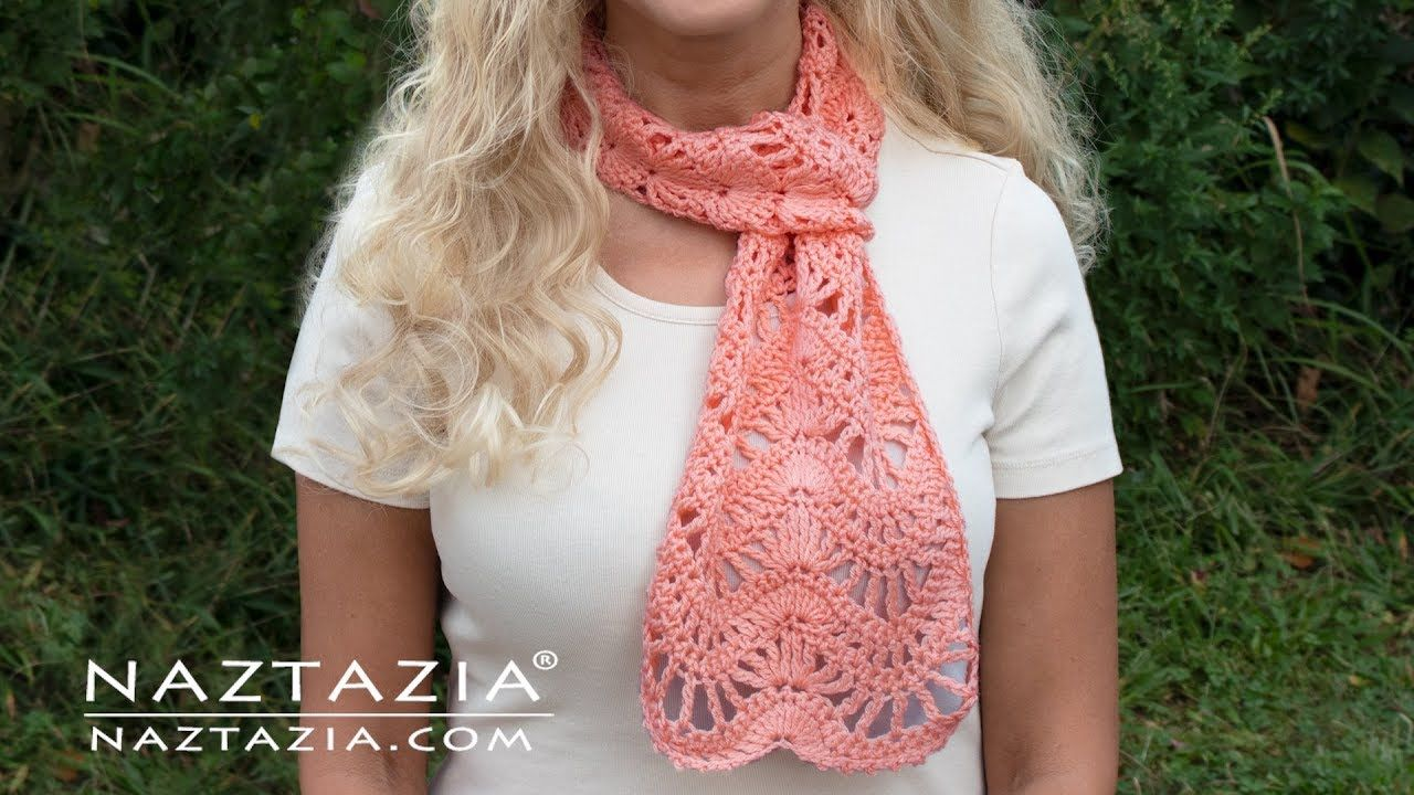 How to Crochet the Anniversary Scarf by Naztazia