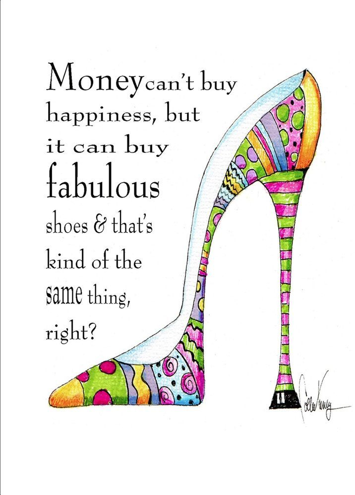Fabulous Shoe Funny Woman Birthday Card Vanity Cases By Collene
