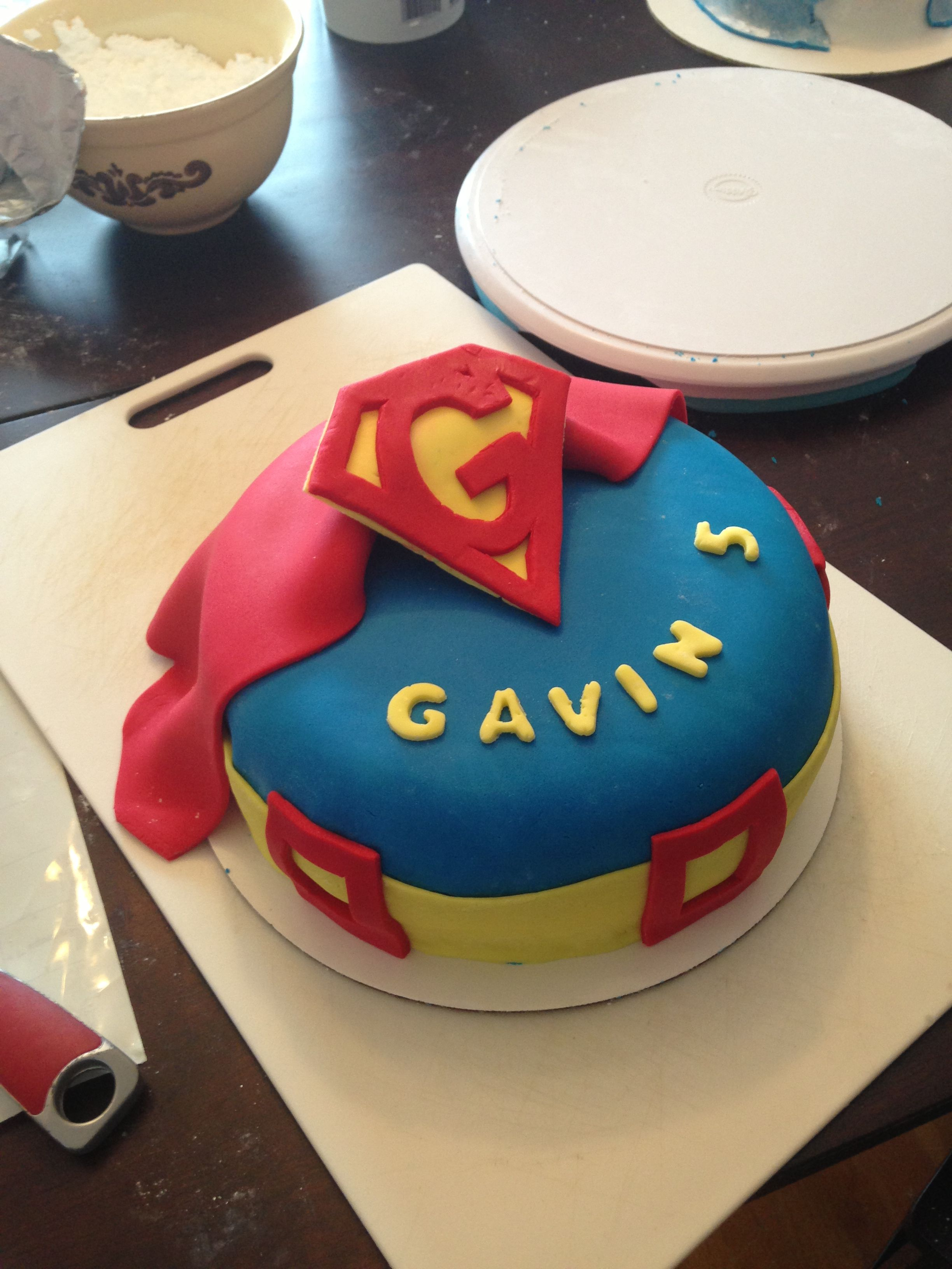 Superman cake! Gavin is 5!